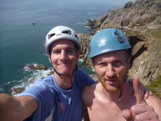 Ben, happy to have completed climb number 1!