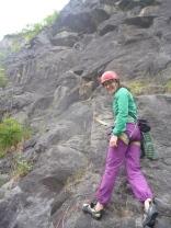 Starting up Piton Route, Avon Gorge