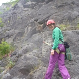 Starting up Piton Route, Avon Gorge
