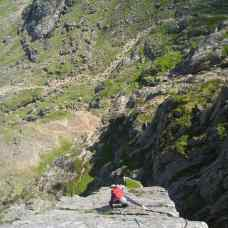 Top slab and arete of Main Wall