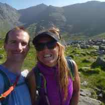 Me and Polly on our way after a great day climbing in Ogwen