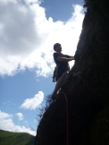 Ian on the final arete