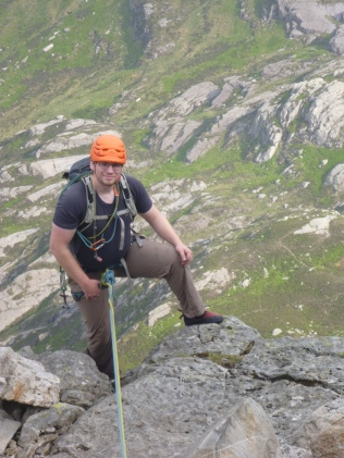 Spencer on Tryfan