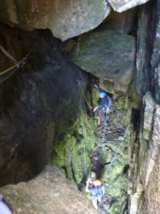 Chris H getting to grips with the great cave