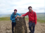 Windy on the summit of Pen Y Ghent