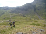 Hiking up to The Napes