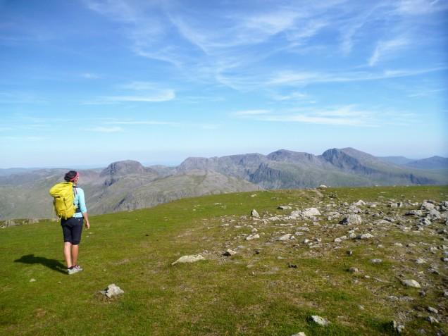 Hiking back to Seathwaite