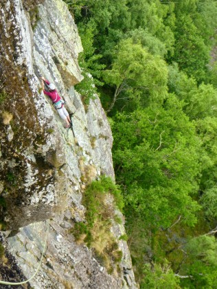 traverse on Troutdale Pinnacle