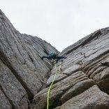 Good bridging on Savage Slit - photo Rob Lovell