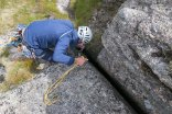 Fishing for a dropped sock - photo Rob Lovell