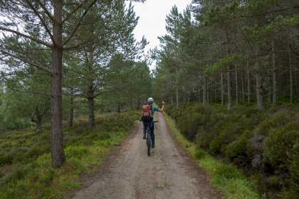 Enjoying not having to walk 10miles to Lochnagar - photo Rob Lovell