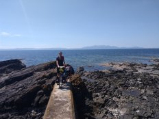 Arran in the background