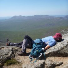Relaxing on the summit