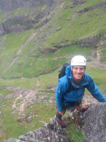 Enjoying dry(ish) rock on Archer ridge