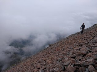 Traversing round Stob Coire nan Lochan