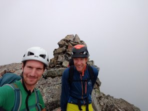 Es and I topping out The Long Climb