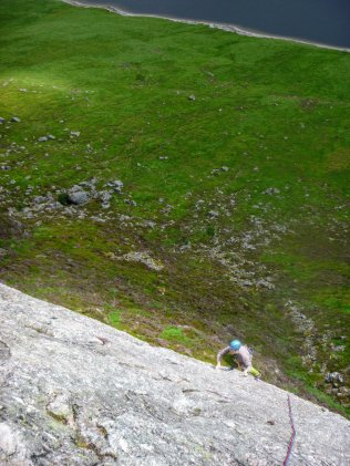 First pitch of Ardverikie Wall