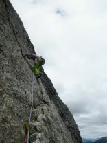 Great climbing on Ardverikie Wall