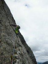 Great climbing on Ardverikie Wall