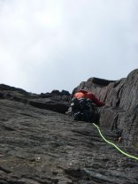 """""""it's as if it was designed for climbing"""" third pitch of The Clean Sweep"""