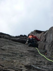 """it's as if it was designed for climbing"" third pitch of The Clean Sweep"