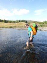 Fording The Dee near Braemar