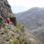 Finding our way to the summit of Sgurr Dubh Mor
