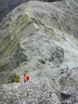 Great scrambing up An Stac