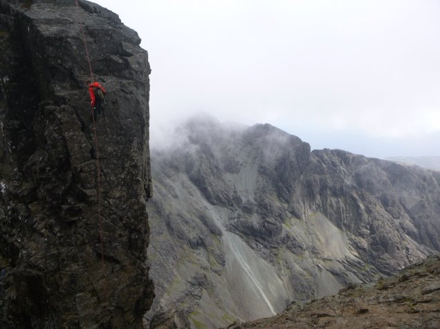 Abseiling from the inaccessible pinnacle