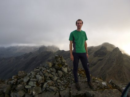 72 days after I started, on the summit of Sgurr nan Gillean with the Cuillin Ridge behind me