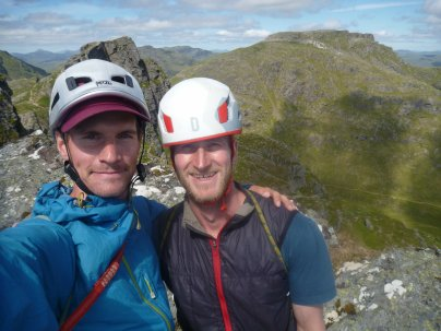 Chris M and I on top of The Cobbler